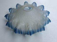 sinisävyinen romanttinen lampunvarjostin, halkaisja 27cm