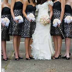 too bad their not longer Wedding Dress: Black and White Bridesmaid Dress Designs Ideas