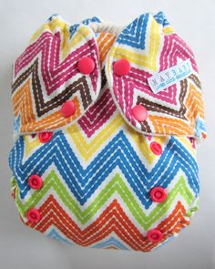 Organic One Size AI2 Cloth Diaper Chevron by maybabyessentials, $21.50