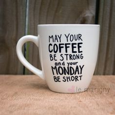 May Your Coffee Be Strong and Your Monday Short Hand by LeMarigny