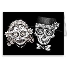 Los Novios - Day of the Dead Cards