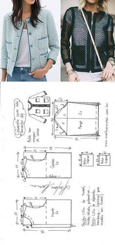 Casaqueto de corte reto | DIY - molde, corte e costura - Marlene Mukai // Светлана Берлова