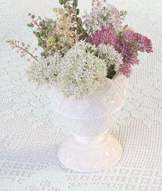 Napco Pink Milk Glass Vase 2255  Vintage by RosebudsOriginals, $19.95