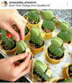 Cacti Macarons by umawadee_sriwarom