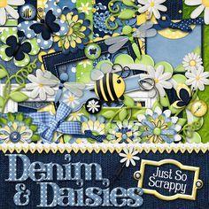 Denim And Daisies Views Album, Daisy, Scrapbook, Wreaths, Denim, Halloween, Home Decor, Decoration Home, Door Wreaths