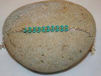 Bracelet épis turquoise
