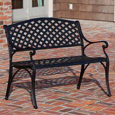 Patioflare Cast Aluminum Bench