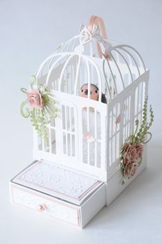 AdaBlog, paper bird cage with drower