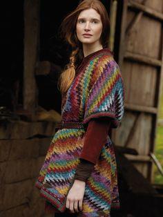 chevrons et navajo ton sur ton au tricot- Kaffe Fassett