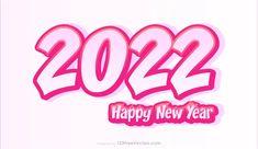Free New Year Pink Background 2022 Illustration