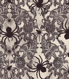 spider lace printable - Halloween Lace Fabric