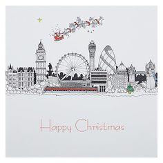 Buy Portfolio London Skyline At Christmas Card Online at johnlewis.com