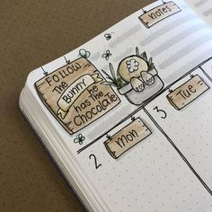 We're celebrating Easter here on the 8th of April, so I had to include the easter theme in the next week's layout! I love the little bunny!!!  (well... as much as you can see of it!!!) #bunny #easterlayout #easterweekly #bulletjournalweeklylog #easterbunny #bunnyhasthechocolate #bulletjournalspread #easterplanning #easterdoodling #scribblesthatmatter