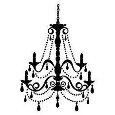 A Fancy White Chandelier On A Black Background