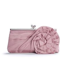 Lulu Townsend Rosette Clutch - Blush ($20) ❤ liked on Polyvore featuring bags, handbags, clutches, purses, bolsas, accessories, handbags & accessories, evening clutches, evening purse and rosette handbag