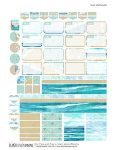 Beach Planner Stickers page3