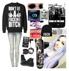 """""""Blood, blood, blood Pump mud through my veins Shut your dirty, dirty mouth I'm not that easy"""" by forbidden-o0o-desires ❤ liked on Polyvore featuring Converse and 2Me Style"""