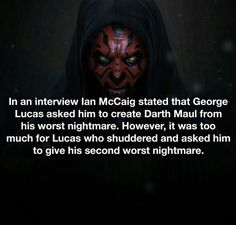 Star Wars Fact on filming and Darth Maul Star Wars Song, Star Wars Facts, Star Wars Clone Wars, Star Wars Humor, Weird Facts, Fun Facts, Ezra Bridger, Star Wars Concept Art, Millenium Falcon
