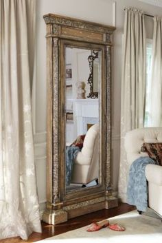 Mirrored Jewel Safe from Soft Surroundings--don't care about the safe, but the mirror itself is amazing