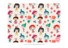 Doodle Girls Pattern © Flora Chang | Happy Doodle Land.png
