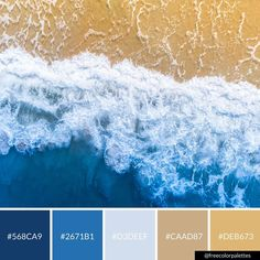 Beach | Ocean | Blue |Color Palette Inspiration. | Digital Art Palette And Brand Color Palette.