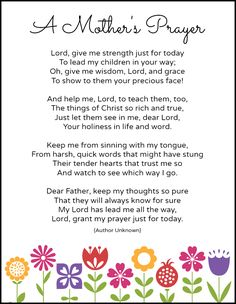 A Mothers Prayer {Free Printable} + Thrive @ Home Link-Up