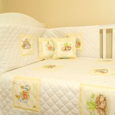 Cream White Dotty Beatrix Potter Baby Bedding
