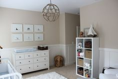 This light pendant from #rhbabyandchild is such a stand-out piece in this classic baby boy nursery!