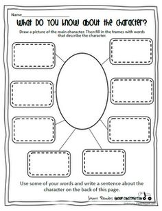 Printables Characterization Worksheet graphic organizers free graphics and fictional characters on what do you know about the character