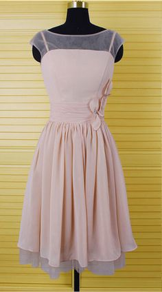 Charming Prom Dress,Chiffon Prom Dress,Cap Sleeve Prom Dress,Party