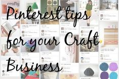 Craft Business - 8 Pinterest tips to boost sales and traffic
