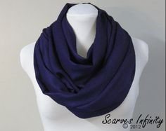 Deep Navy Blue, Pashmina hooded cowl (for Mara). $26.50