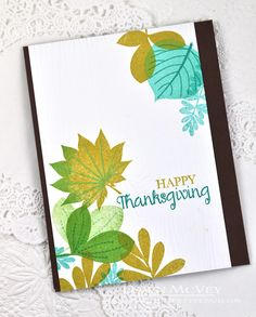 Happy Thanksgiving Card by Dawn McVey for Papertrey Ink (October 2014)
