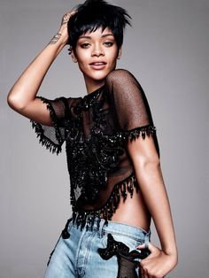 ☆ Rihanna | Photography by David Sims | For Vogue Magazine US | March 2014 ☆…