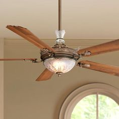 "68"" Cristafano Belcaro Walnut Finish Ceiling Fan - #04767 