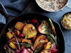 This rustic dish serves as a tutorial for both steam- and dry-roasting. Serve the fruit and vegetables with the savory farro porridge and...
