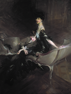Giclee Print: Consuelo Vanderbilt , Duchess of Marlborough, and Her Son, Lord Ivor Spencer-Churchill , 1906 by Giovanni Boldini : Victorian Portraits, Victorian Paintings, French Artwork, Giovanni Boldini, Cecil Beaton, Manet, Vintage Pictures, Churchill, Metropolitan Museum