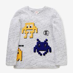 Tee-shirt imprimé pixel VINTAGE WHITE MARLE Boys Shirts, Tee Shirts, Baby Boy Outfits, Kids Outfits, Kids Fashion, Fashion Outfits, Graphic Sweatshirt, Graphic Tees, Printed Tees