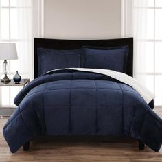 One of my favorite discoveries at ChristmasTreeShops.com: London Fog® Reversible Comforter Mini Set