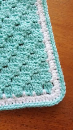 SC in each block then double chain for round one. Round two is 3 HDC in the chain space from round one and round three is just a sc to even it out. C2c Crochet, Crochet Dishcloths, Baby Blanket Crochet, Easy Crochet, Love Crochet, Crochet Crafts, Crochet Baby, Crochet Hooks, Crochet Blankets