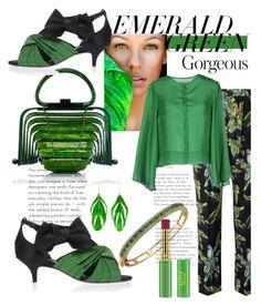 """Emerald Green Gorgeous"" by mdfletch on Polyvore featuring Bee Goddess, STELLA McCARTNEY, ..,MERCI, Aurélie Bidermann, Tata Harper and emeraldgreen"