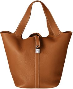 Hermes Gold Picotin Lock TGM Bag