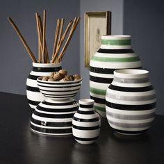 Kähler Omaggio Vase...I bet I could totally make these..good design idea for plain vases