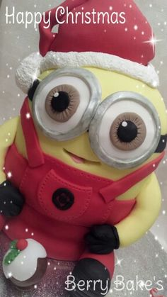 Christmas Minion cake by Berry Bakes