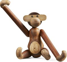 Kay Bojesen Monkey Medium 28cm wood popular toy in the playroom Danish Design | eBay
