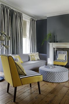 Lounge decor - @clarkeandclarke Traviata range - available from Rodgers of York #fabric #lounge #interiors