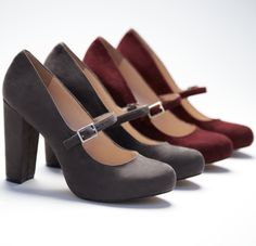 Suede Mary Jane's.  Love Mary Janes and I like these heels.