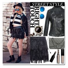 """""""Street Style"""" by stylemoi-offical ❤ liked on Polyvore featuring Bobbi Brown Cosmetics, Quay and stylemoi"""