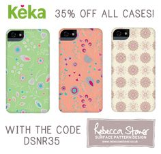 SPECIAL OFFER: 35% off all my cases with the code DSNR35 & now shipping INSIDE the UK! http://www.kekacase.com/designer-cases/rebecca-stoner.html