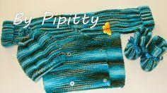 Deixo aqui uma receita de conjuntinho para bebê para as tricoteiras que preferem trabalhar com lã mais grossa. Este foi trabalhado com lã Fa...